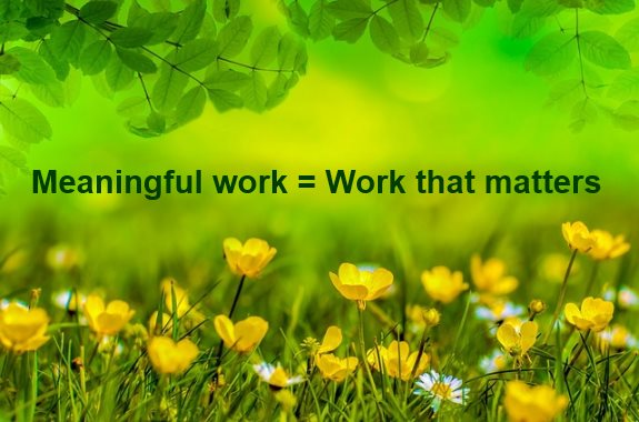 What makes work meaningful?